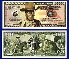 1- JOHN WAYNE MILLION DOLLAR BILL FAKE-MOVIE- MONEY- NOVELTY -ITEM X