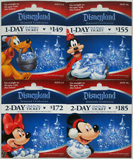 All 4 Different DISNEYLAND 60th Diamond Anniversary Holiday Passport Gift Cards