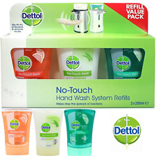 Dettol No Touch Anti Bacterial Recharge Hand Wash Refills Scented 3 Pack 3x250ml