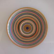 Assiette ronde céramique faïence art-déco KERAMIK LAND made in Italie