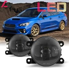 LED For Subaru WRX STI 15-17 Clear Lens Pair Bumper Fog Light Lamp Replacement