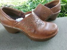 ARIAT Brown Leather Studded Western Boot Heeled Clogs Shoes Women size 8.5 M sho