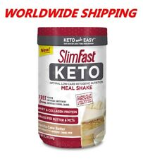 Slim Fast Keto Shake Powder Vanilla Cake Batter 11.01 Oz WORLDWIDE SHIPPING
