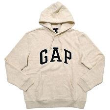Gap Hoodie Mens Pullover Sweatshirt Fleece Lined Applique Arch Logo Jacket New