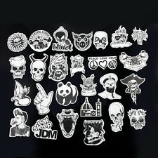 60Pcs New Waterproof Sticker Bomb Black White  Decal For Car Skateboard Laptop