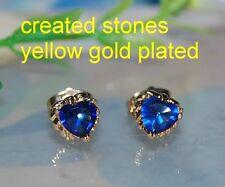 1ct heart sapphire studs