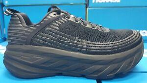 NEW Hoka Bondi 6 Wide (D) W 1019272/BBLC Black Running Shoes For Women