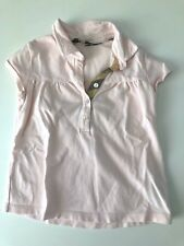 NEW 4T Burberry Light Pink Polo Tee Shirt Luxury Design Adorable NEW