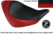 DARK RED AND BLACK VINYL CUSTOM FITS HONDA NRX RUNE 1800 SOLO SEAT COVER ONLY