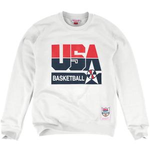 1992 USA Dream Team Mitchell & Ness NBA Crew Jumper - White