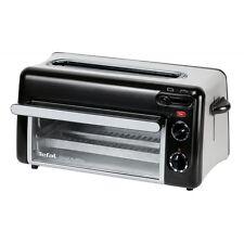 Tefal TL6008 Schwarz-Silber 2 in 1 Toaster und Mini-Ofen Aufbacken Toasten