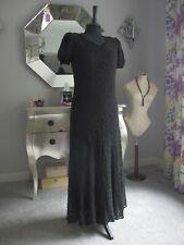 Antique 1930s dress black lace overlay