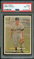 1957 Topps BB Card #227 Jerry Staley Chicago White Sox PSA NM-MT 8 !!!