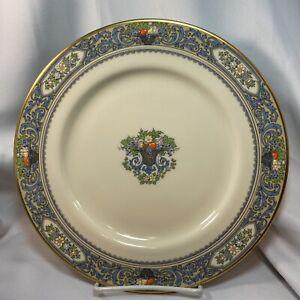 "Lenox AUTUMN Dinner Plate 10-1/2"" Gold Stamp Raised Floral Fruit Design"