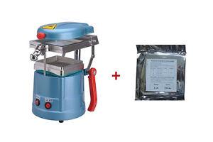 Dental Vacuum Forming Machine Lab Equipment +20pcs Splint Thermoforming Material