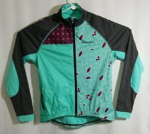 Louis Garneau Womens Full Zip Long Sleeve Turquoise Cycling Jersey, XL