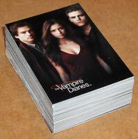 The Vampire Diaries Season 1 ~ COMPLETE 63-CARD BASE SET (Cryptozoic, 2011)