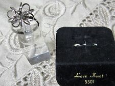 "Vintage SARAH COVENTRY ""Love Knot"" Silvertone Ring NEW Item # 5501"