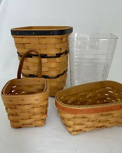 Vintage lot of Longaberger baskets 1986, 97, 99