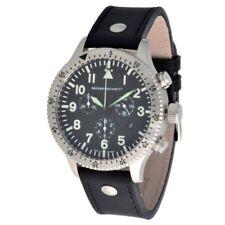 Relojes de pulsera Pilot de acero inoxidable de cuero
