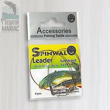 Spinwal surfstrand wire leaders 21kg-30cm (2pcs) Pike,zander,dead bait trace afw