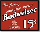 Budweiser 15c metal Wall Sign (ga)
