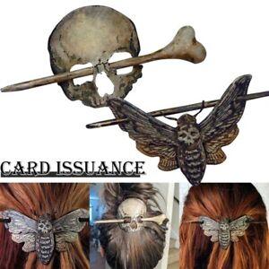 Halloween Hairpin Skeleton Skull Death Moth Hairpin Hair Accessories Detachable