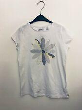 Okaidi T-Shirt Größe D 140 weiß Blume Mädchen Kurzarm #200 85511569