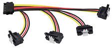 Adaptateur pour câble d'alimentation SATA (1x(m) à 4x(f) 90° 14-18-22-22-26,5cm)
