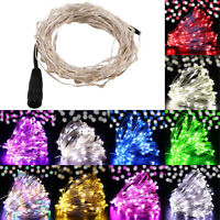 10/20/30/50M LED Wire String Lights Fairy Night New Year Decor Holiday Wedding