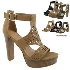 New Women  Gladiator Platform Sandals Chunky High Heel Open Toe Dress  Shoes