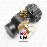 Propane Tank Brass Adapter Pressure Meter Gauge 4 Master LP Gas Grill BBQ RV USA