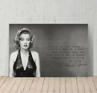 Marilyn Monroe Quotes 'You are not Alone' Decorative Art Canvas Print Modern