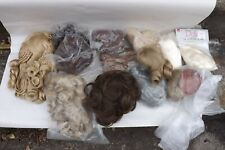 New ListingPorcelain Doll Hair Wig Collection Lot & Other Parts