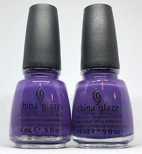 China Glaze Nail Polish GRAPE POP 860 Rich Blue Tone Purple Creme Lacquer