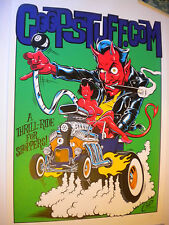 1999 COOP STUFF SIGNED SCREENED POSTER  #599  DEVIL GIRL HOT ROD 8 BALL RAT FINK