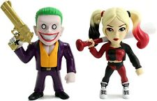 Caja 2 Figura The Joker Boss Y Harley Quinn 10cm Metal Dc Comics JADA TOYS
