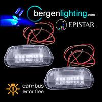 Para Porsche Cayenne 2011 Encendido 18 LED Azul Luz Puerta Delantera Faro Par
