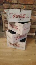 Wooden Vintage Style white 'Coca Cola' Storage Box / coke bottle holder .