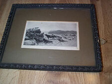 Antique Framed Straits Of Ballachulish Print From Painting by Rosa Bonheur