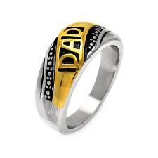 Neues AngebotHerren Edelstahl Gelb Vergoldet Dad Biker Ring