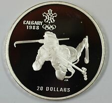 1986 Canada $20 Proof 1988 Calgary Olympic Coin- Biathlon- w/Capsule