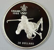 1986 Canada $20 Proof 1988 Calgary Olympic Coin- Biathlon- w/Box & COA