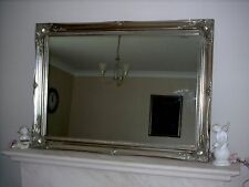 "ANTIQUE SILVER ORNATE EXTRA LARGE WALL MIRROR - 30"" x 42"" (75cm x 105cm)"