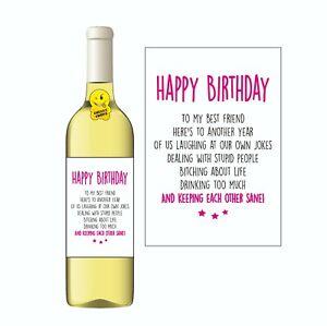 Funny Wine Label Gift Best Friend WL05