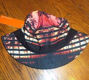 Black Jack Toddler Boys Girls Bucket Hat Palm Trees Beach Sunset Vacation NWT