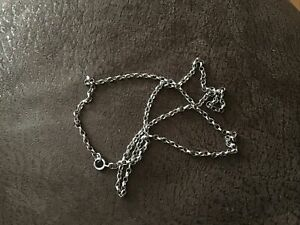 """STERLING SOLID SILVER BELCHER CHAIN NECKLACE 20"""" NOT SCRAP 5 GRAMS"""