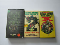 Lot of 3 TMNT VHS Movies Tapes TMNT Trilogy (TMNT 1 2 3)