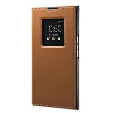 GENUINE Blackberry Priv Leather Smart Flip Case Cover ACC-62173-002 - Tan