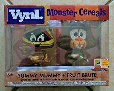 FUNKO 2018 SDCC CEREAL MONSTERS YUMMY MUMMY & FRUIT BRUTE VYNL 2 PACK